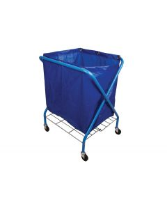 Folding Waste Cart With Blue Vinyl Bag