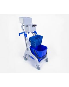 Quick Response Trolley, Bucket & Wringer For Microfibre Mopping