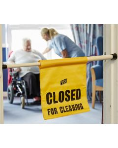 Hanging Door Safety Sign